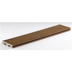 TimberTech 1-in x 6-in x 12-ft Brown Oak Terrain Composite Decking