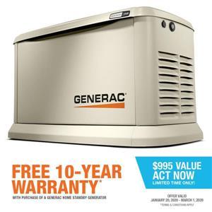 Generac Guardian Series 13kW Standby Generator