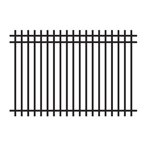 Master Halco 4-ft Black Square Top Ornamental Fence Panel