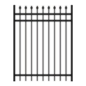 Master Halco 4-ft Spear-Top 3-Rail Black Steel Ornamental Gate