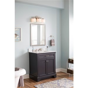 Scott Living 30-in x 22-in Gray Undermount Single Sink ...