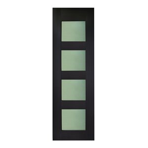 36-in x 80-in Espresso Tahoe Interior PVC Slab Door