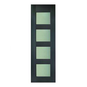 36-in x 80-in Charcoal Grey Tahoe Interior PVC Slab Door