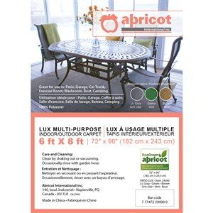 Abricot Light Gray Green Brown (Common:; Actual: 6-ft W x 8-ft L x 0.33-ft dia)