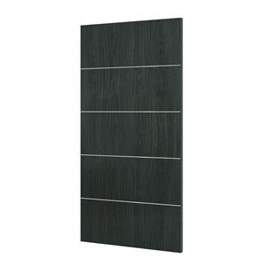 36-in x 80-in Charcoal Grey Murage Interior PVC Slab Door