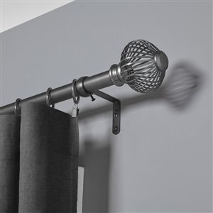 Umbra 36-in to 72-in Pewter Steel Curtain Rod Set
