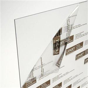 LEXAN 0.666667-ft x 0.833333-ft x 2.3622 Mils Clear Polycarbonate Sheet
