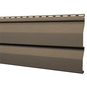 Mitten Sentry Vinyl Siding Panel Double 4.5 Dutch Lap Timber Bark 9-in x 144.9-in