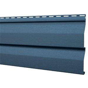 Mitten Sentry Vinyl Siding Panel Double 4.5 Dutch Lap Regatta Blue 9-in x 144.9-in