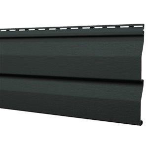 Mitten Sentry Vinyl Siding Panel Double 4.5 Dutch Lap Gunmetal Grey 9-in x 144.9-in