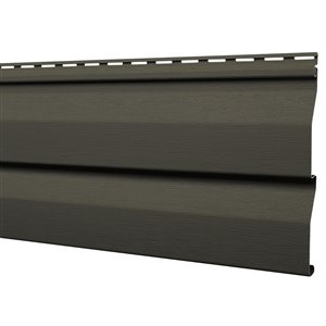 Mitten Sentry Vinyl Siding Panel Double 4.5 Dutch Lap Rockaway Grey 9-in x 144.9-in