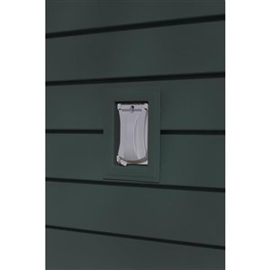 Ply Gem 1-in x 6-in Gunmetal Grey Vinyl Universal Mounting Block