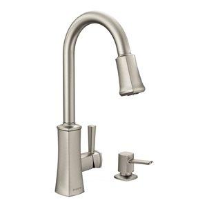 Moen Bridgestone Spot Resist Stainless 1-Handle Deck Mount Pull-Down Kitchen Faucet