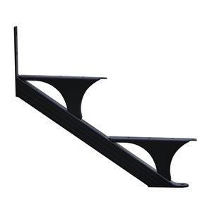 Regal Quick Step 2-Step Aluminum Black Deck Stair Stringer 2-Pack