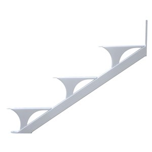 Regal Quick Step 3-Step Aluminum White Deck Stair Stringer 2-Pack