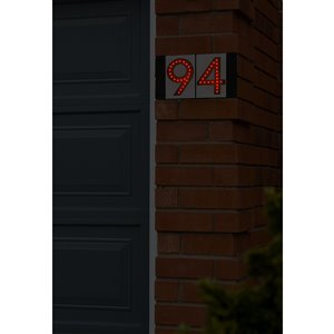 Enviromate Modular Large Red LED House Number