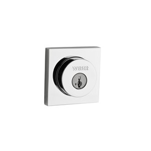 Weiser SmartKey Square Deadbolt (Polished Chrome)