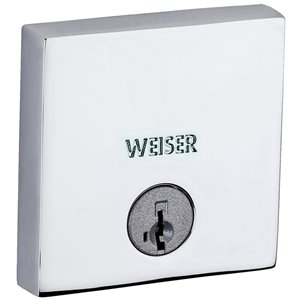 Weiser Collections Downtown Smartkey Polished Chrome Deadbolt
