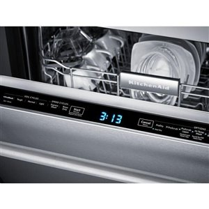 KitchenAid 24-in 44-Decibel Built-in Dishwasher with Hidden Control Panel (Stainless Steel) ENERGY STAR