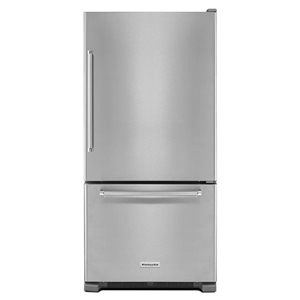 KitchenAid 22.07-cu ft Bottom-Freezer Refrigerator (Stainless Steel) ENERGY STAR