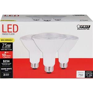 Feit Electric 10.5-Watt/750 Lumens Medium Base (E-26) LED Light Bulb (3-Pack)