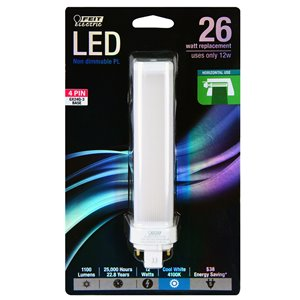 Feit Electric 26-Watt/1100 Lumens Gx24Q-3 Pin Base Ps Wedge LED Light Bulb (1-Pack)
