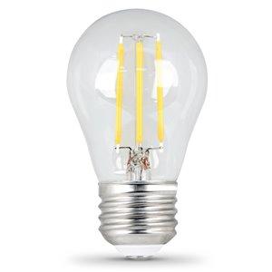 Feit Electric 4.5-Watt/300 Lumens Medium Base (E-26) Dimmable Filament LED Light Bulb (2-Pack)