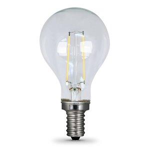 Feit Electric 60-Watt/500 Lumens Candelabra Base (E-12) Dimmable A-Style Filament LED Light Bulb (2-Pack)