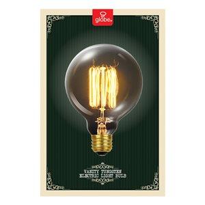 Globe Electric 60-Watt/245 Lumens Medium Base (E-26) Dimmable Edison G30 Vintage Light Bulb (1-Pack)