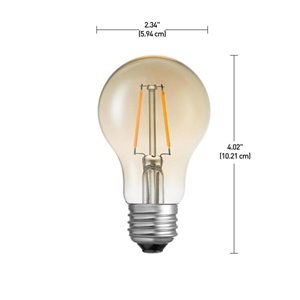 Globe Electric 60W Equivalent Soft White (2200K) Vintage Edison Dimmable LED Light Bulb