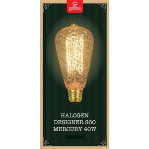 Globe Electric 40-Watt/400 Lumens Medium Base (E-26) Dimmable S Halogen Light Bulb (1-Pack)