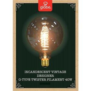 Globe Electric 40-Watt/140 Lumens Medium Base (E-26) Dimmable Globe G Vintage Light Bulb (1-Pack)