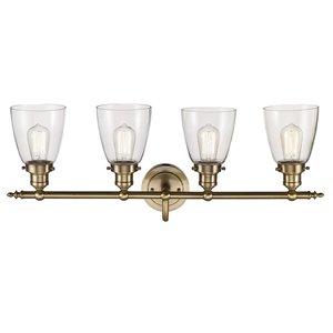 Bel Air Lighting 4-Light Soft Tone Gold Bell Vanity Light
