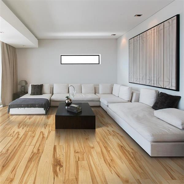 L Smooth Wood Plank Laminate Flooring, Spalted Maple Laminate Flooring Taiga