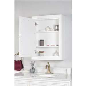 Foremost Everton 22-in White Wall Cabinet with Mirror
