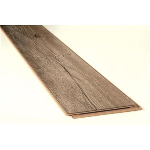 Kronotex Raven Ridge Estate Grey Oak 7.4-in W x 4.51-ft L Embossed Wood Plank Laminate Flooring