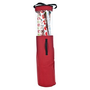 TreeKeeper Red Wrapping Paper Storage Tube
