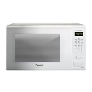 Panasonic 1.3 cu-ft 1100-Watt Countertop Microwave (White)