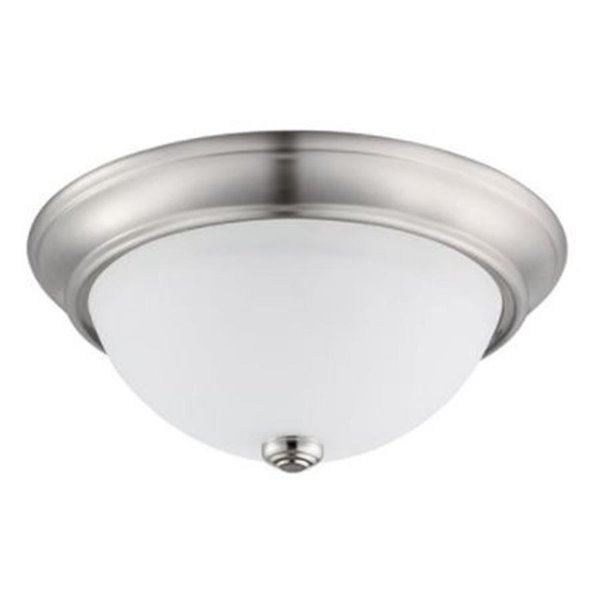 new product efa28 aa297 Prominence Home 13-in W Brushed Nickel Integrated Led Flush Mount Light