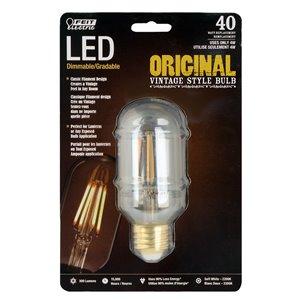 Feit Electric 40-Watt/300 Lumens Medium Base (E-26) Dimmable Tubular Filament LED Light Bulb (1-Pack)
