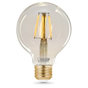 Feit Electric 40-Watt/350 Lumens Medium Base (E-26) Dimmable Globe Filament LED Light Bulb (1-Pack)