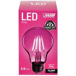 Feit Electric 25-Watt Medium Base (E-26) A-Style Filament Pink LED Light Bulb (1-Pack)