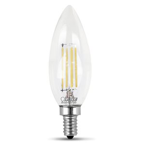 Feit Electric 60-Watt/500 Lumens Candelabra Base (E-12) Dimmable Candle Filament LED Light Bulb (2-Pack)
