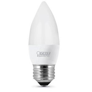 Feit Electric 40-Watt/300 Lumens Medium Base (E-26) Candle LED Light Bulb (3-Pack)