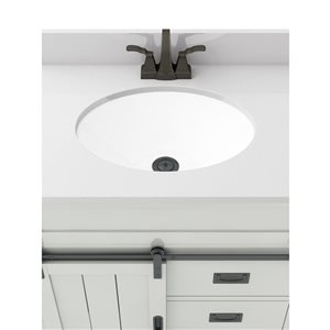 Style Selections Morriston 30-in Single Sink White Bathroom Vanity With Engineered Stone Top