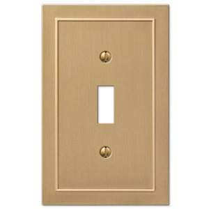 Amerelle Bethany 1-Gang Toggle Wall Plate (Brushed Bronze)