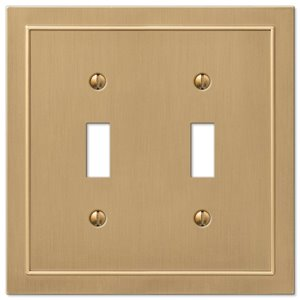 Amerelle Bethany 2-Gang Toggle Wall Plate (Brushed Bronze)