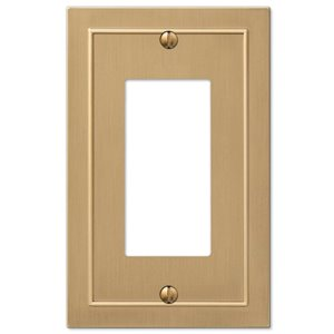 Amerelle Bethany 1-Gang Decorator Rocker Wall Plate (Brushed Bronze)