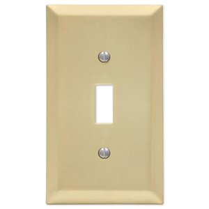 Amerelle 1-Gang Toggle Wall Plate (Satin Brass)