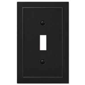 Amerelle Bethany 1-Gang Toggle Wall Plate (Black)